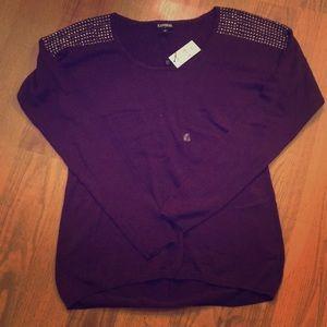 NWT. EXPRESS burgundy sweater.